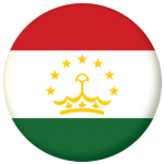 Tajikistan Country Flag 58mm Button Badge